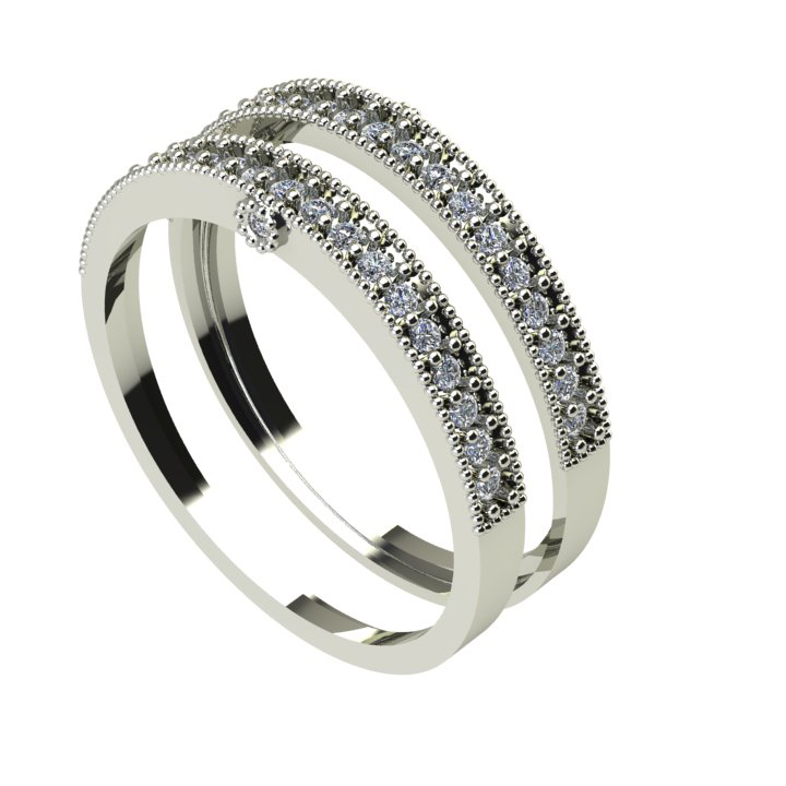 Classic Fancy Cut Diamond Wedding Ring For Him and Her