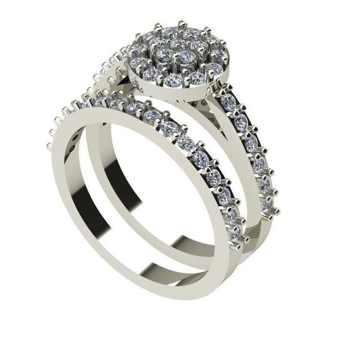 Stunning Engagement Ring Set
