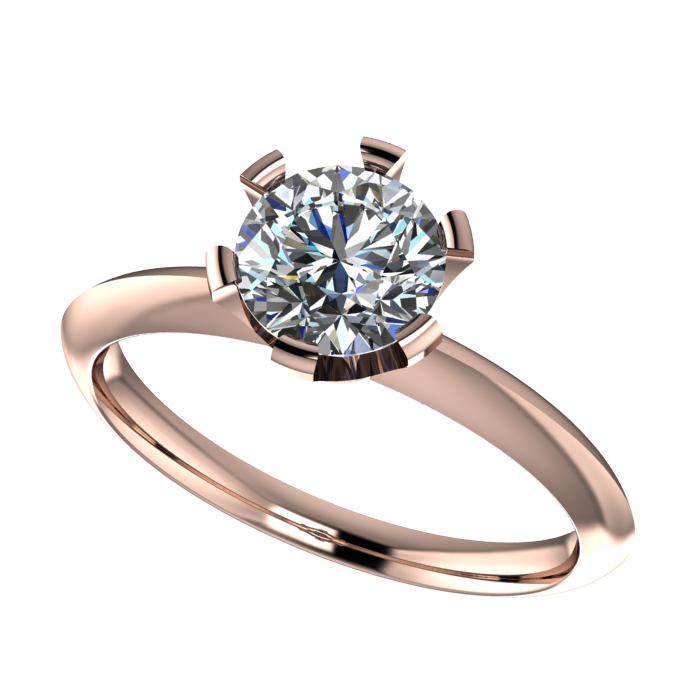 Solitaire Plain White Gold Ring For Women