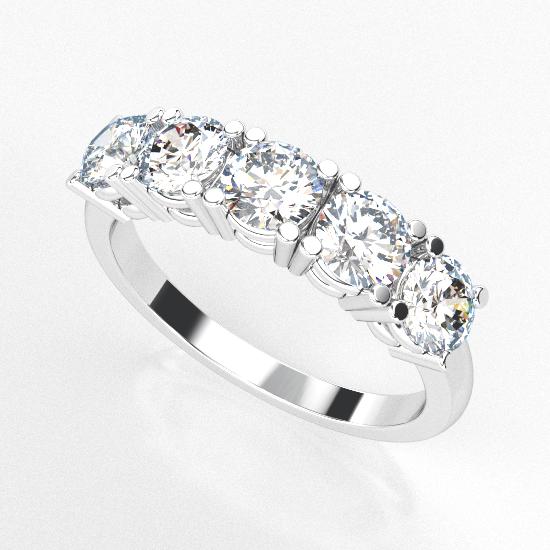 Smart 5 Diamon Fancy Cut Diamond Wedding Ring For Women