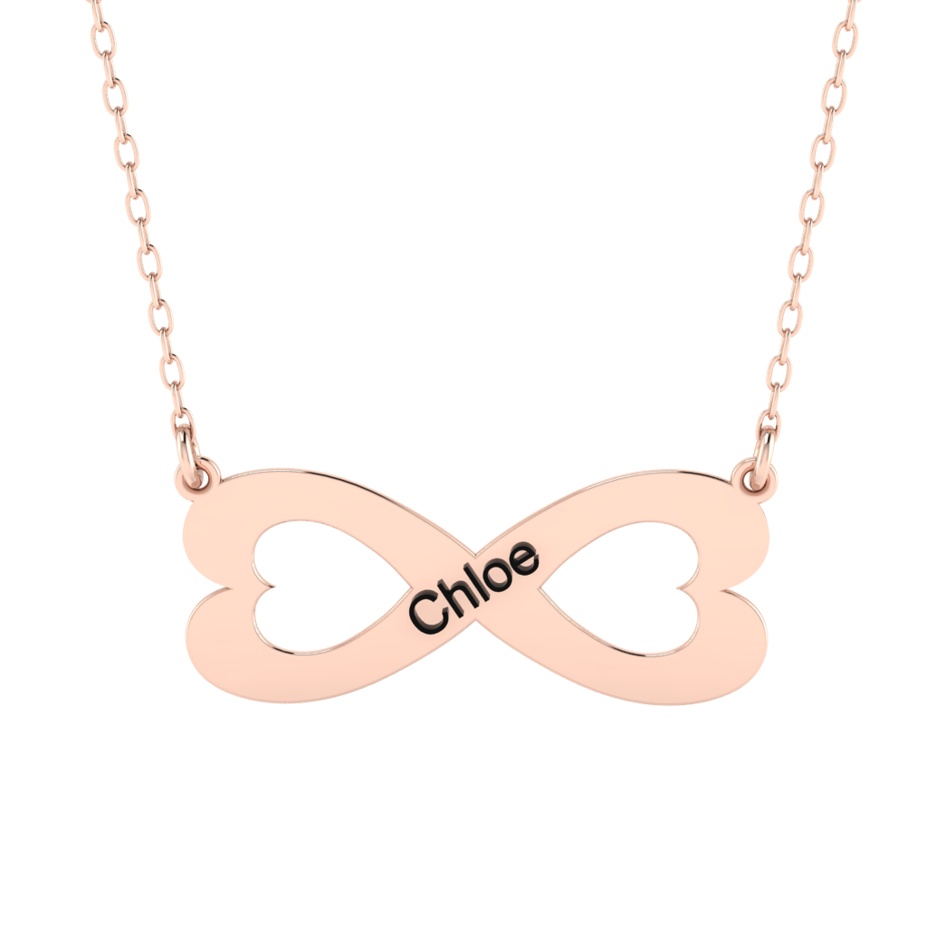 Heart Name Engraved Necklace