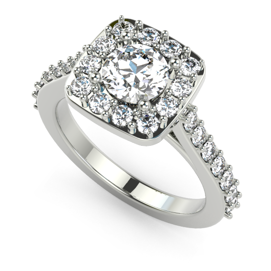 Round Center Engagement Ring