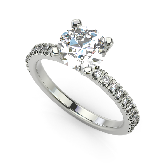 Diamond Designer Silver Ring for Women and Girls
