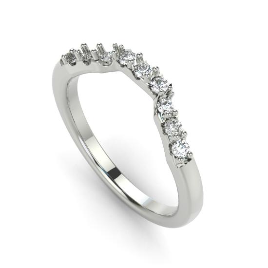 9 Round Cut Diamond Wedding Ring For Women