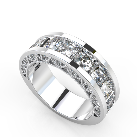 Designer Princess Cut Diamond Wedding Ring For Women