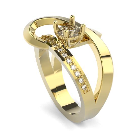 Diamond Ladies Fancy Cut Ring