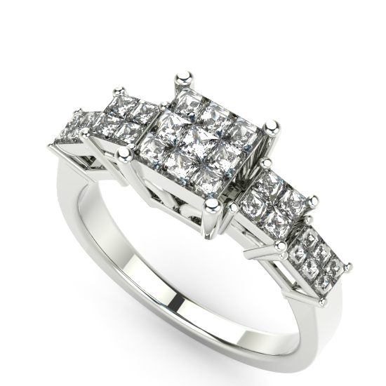 Stunning Fancy Cut Diamond Engagement Ring
