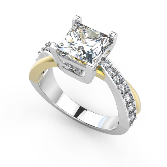 Good Looking Fancy Cut Diamond Engagement Ring