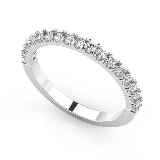 Elegant 17 Classic Fancy Cut Diamond Wedding Ring