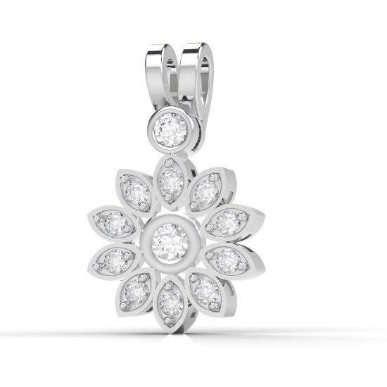 Flower Frame Fancy Cut Diamond Pendant