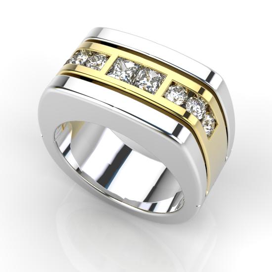 Royale Stylish Diamond Wedding Ring For Men