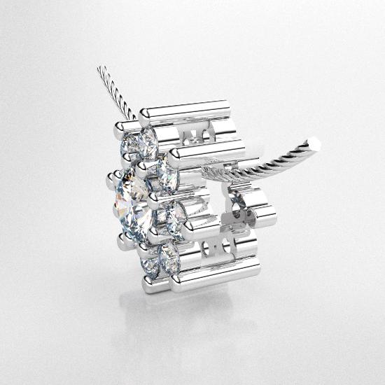 Attractive Flower Frame Diamond Pendant
