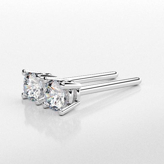 Elegant Flower Frame Fancy Cut Diamond Earring