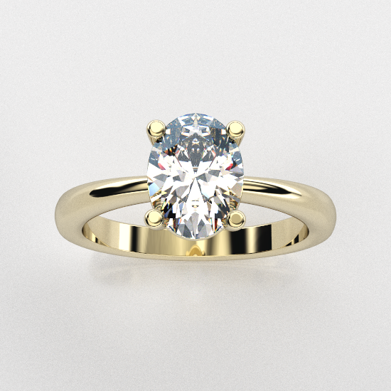 Solitaire Oval Cut Engagement Ring