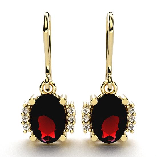 Elegant Oval Cut Diamond Earrings For Women
