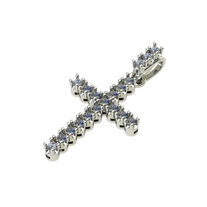 Cross Shape Fancy Cut Diamond Pendant