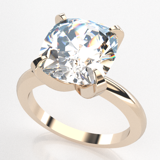 Elegant Cushion Cut Engagement Ring
