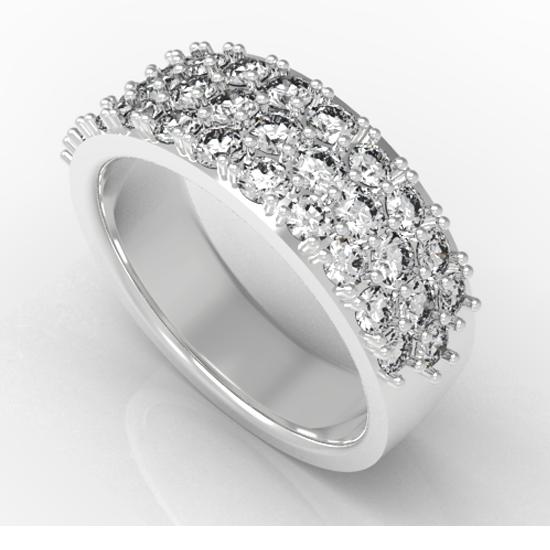 Designer Fancy Cut Diamon Wedding Ring For Women