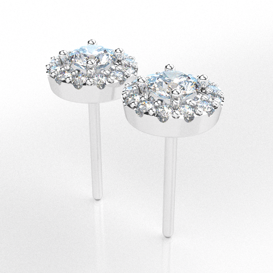 Royale Diamond Flower Frame Earrings For Women