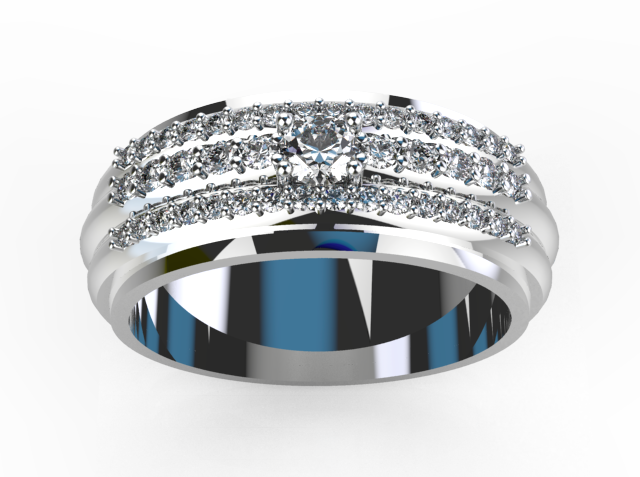 Smart Solitaire Diamond Wedding Ring For Men