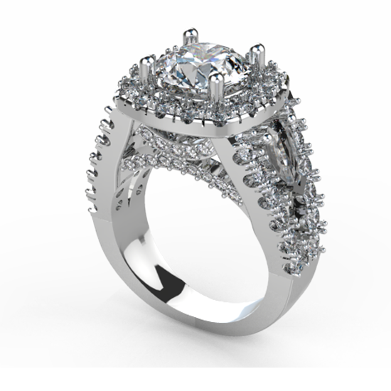 White Gold Brilliant Cut Diamond Ring