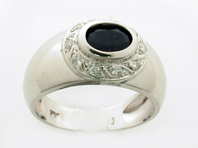 14K OVAL RING COLORSTONE