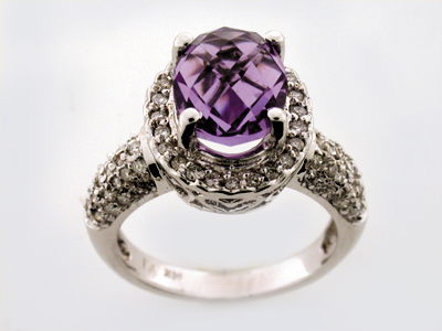 14K OVAL RING