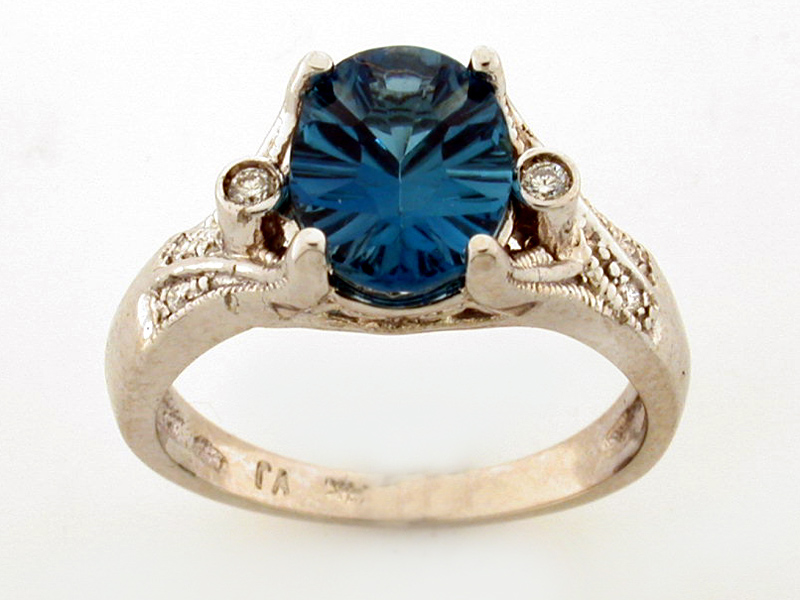 14K OVAL COLORSTONE RING