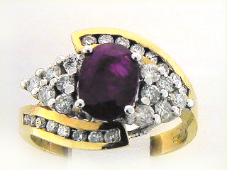 18K CANAL+COLORSTONE RING