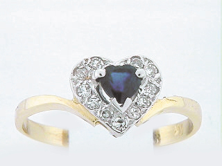 10K HEART DIA RING