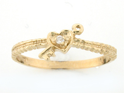 10K KAY HEART DIA RING