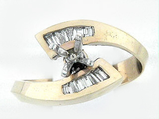 14K TWISTED BAG RING