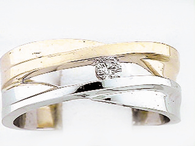 14K 2 COLOR W BAND
