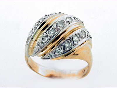 14K TWISTED RING