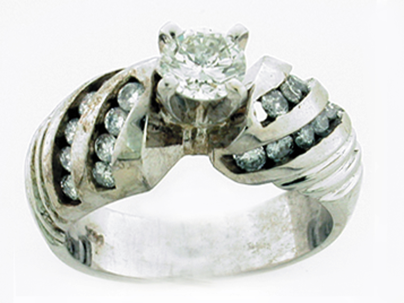14K 20 CANAL STONE TWISTED R