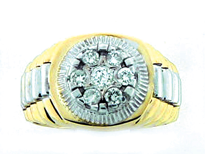 14K 7 DIA CUT ROLEX RING