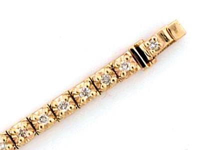 14K ILLUSION SETTING BRACELET