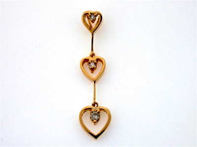 14K FUTURE PENDANT 3 HEART
