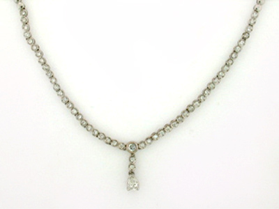 14K CENTR PEAR SHAPE NECKLACE