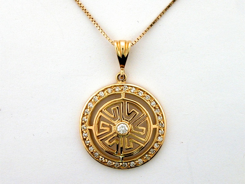 14K VERSACY PENDANT