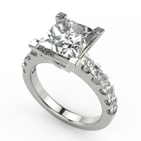 Elegant Princess Cut Diamond Beautiful Engagement Ring