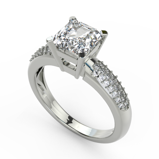 Princess Cut Diamond Engagement Ring For Women