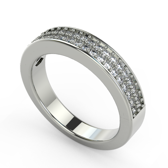 Smart Plain White Gold Wedding Ring For Women