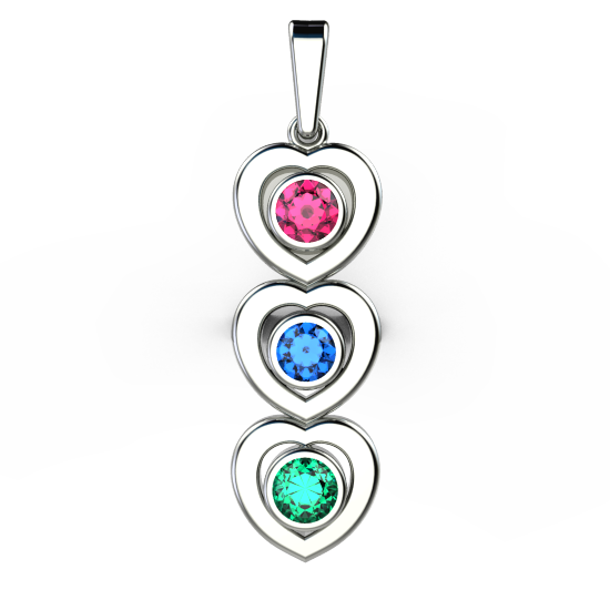 Hearts Pendant With 4 & 6 Prong