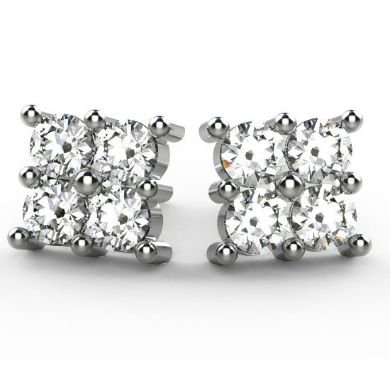 Stunning Fancy Cut Diamond Earring For Women