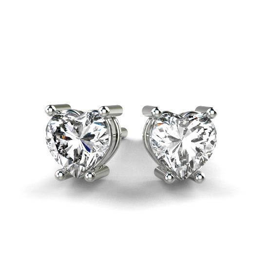 Heart Shape Diamond Earring For Women