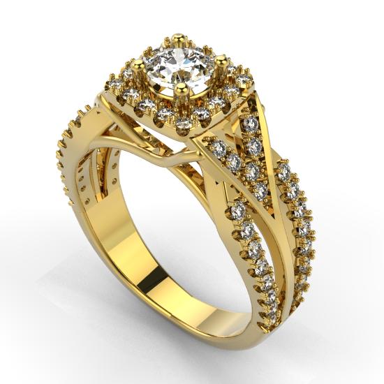 Halo Engagement Ring