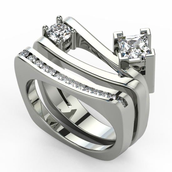 Smart Bridal Ring Set For Cuple